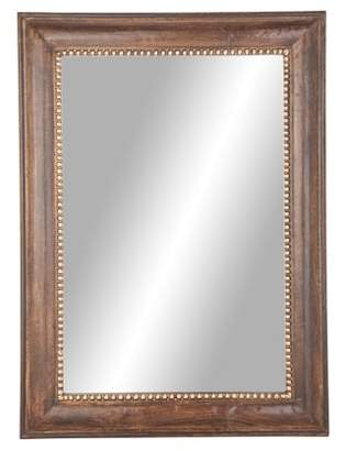 DecMode Decmode Traditional 44 X 32 Inch Rectangular Dark Brown Wood And Metal Framed Wall Mirror