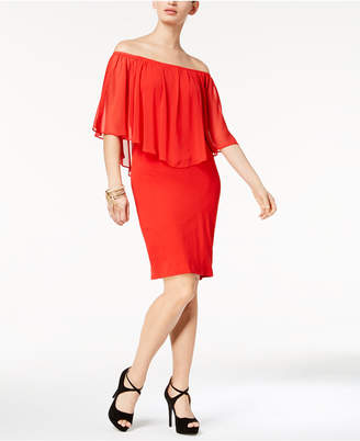 Thalia Sodi Chiffon Popover Dress, Created for Macy's