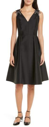 Women's Kate Spade New York Bow Embellished Fit & Flare Dress