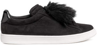 H&M Trainers with faux fur - Black