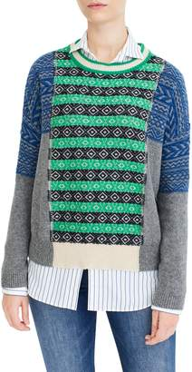 J.Crew Multi Fair Isle Sweater