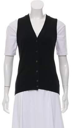 Loro Piana Cashmere Knit Vest Black Cashmere Knit Vest