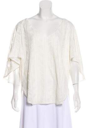 Amanda Uprichard Three-Quarter Sleeve Patterned Top w/ Tags