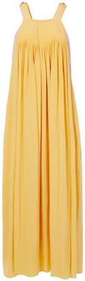 Tibi Arielle Silk Overall Pleated Dress
