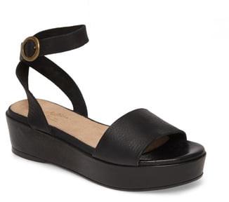 Seychelles Monogram Platform Ankle Strap Sandal