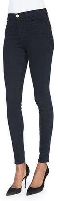 J Brand Maria High-Rise Skinny Jeans, Bluebird $218 thestylecure.com