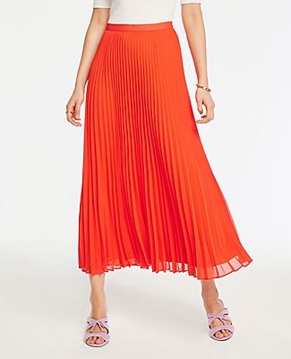 Ann Taylor Petite Pleated Maxi Skirt