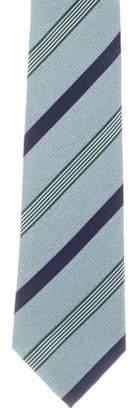 Isaia Striped Pattern Silk Tie
