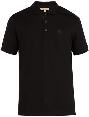 Burberry Check-placket cotton-piqué polo shirt