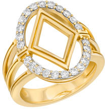 Ivanka Trump Affinity Large Oval Ring with Diamond Element $3,280 thestylecure.com