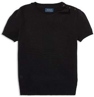 Ralph Lauren Girls' Short-Sleeve Sweater - Big Kid