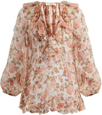 Zimmermann Radiate floral-print silk blouse
