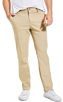 GUESS Men's Linen Slub Chino Pant