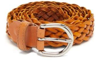Giuliva Heritage Collection The Braided Leather Belt - Womens - Tan