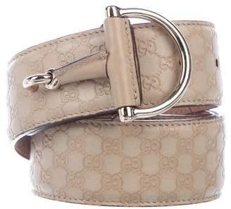 Gucci Guccissima Horsebit Belt