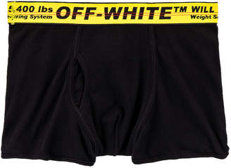 Off-White Off White Single Pack Boxer in Black & Yellow | FWRD