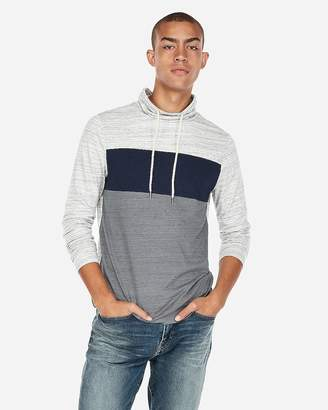 Express Pieced Funnel Neck Tee