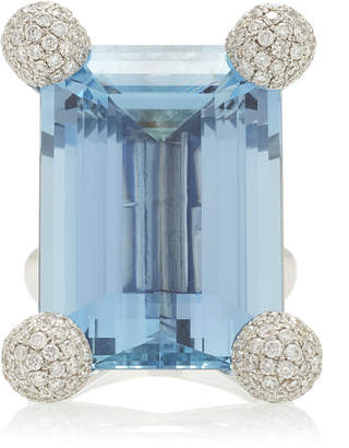 Sidney Garber Aqua And Round Ring