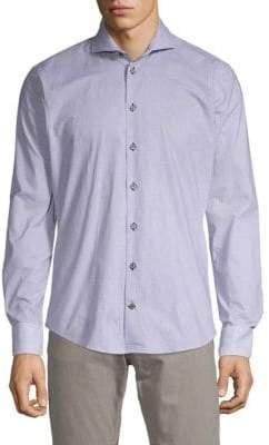 Bugatti Geometric-Print Button-Down Shirt