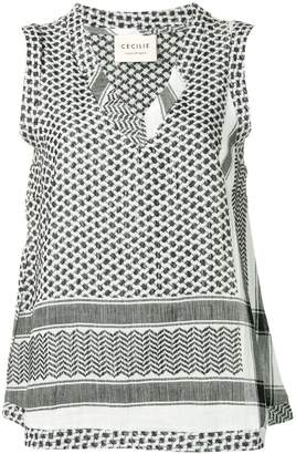 Cecilie Copenhagen printed sleeveless top