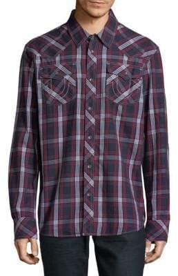 True Religion Plaid Cotton Button-Down Shirt