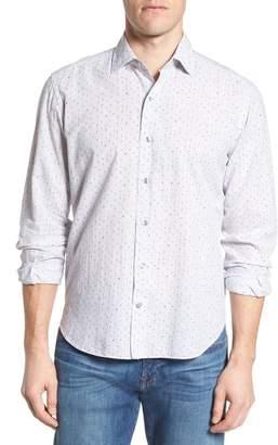 Culturata Slim Fit Melange Dot Sport Shirt