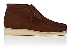 Clarks Men's BNY Sole Series: Nubuck Wallabee Boots-Brown