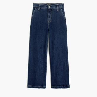"J.Crew 10"" highest-rise wide-leg jean in medium dark wash"