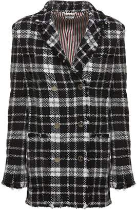 Thom Browne Tartan Tweed Sack Jacket