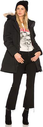 Canada Goose Trillium Parka with Coyote Fur Trim in Black $895 thestylecure.com