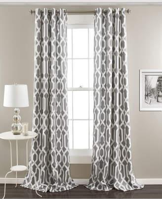"Lush Decor Edward Trellis 108"" x 52 Room Darkening Window Curtain Set"