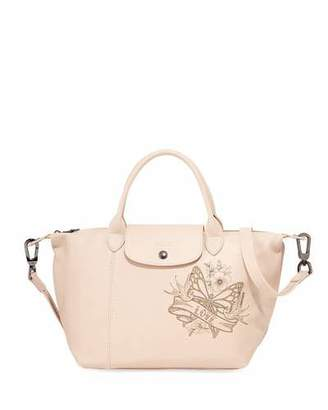 Longchamp Le Pliage Cuir Tattoo Small Handbag with Strap
