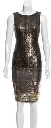 Alice + Olivia Sequin Embellished Knee-Length Dress w/ Tags