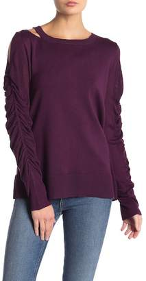Love Scarlett Ruched Sleeve Sweater