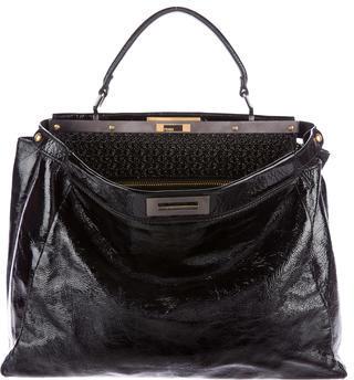 FendiFendi Large Patent Peekaboo Bag