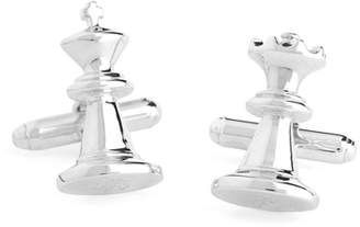 Brooks Brothers Sterling Silver Chess Piece Cuff Links