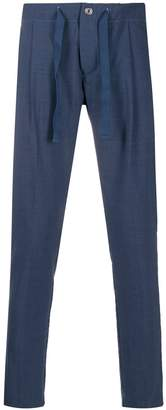 Entre Amis micro pleats tapered trousers