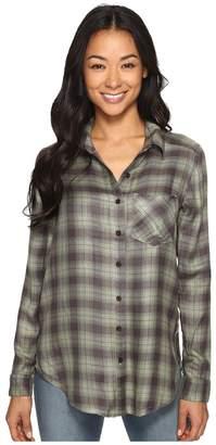 RVCA York Plaid Button-Up Shirt Women's Long Sleeve Button Up