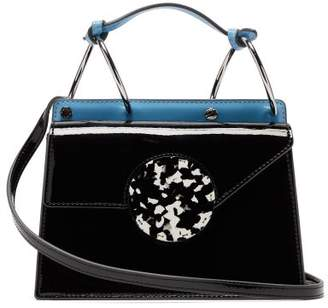 Danse Lente Phoebe Bis Two Tone Patent Leather Bag - Womens - Black Blue