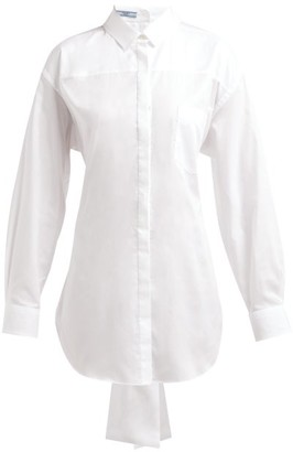 Prada Mirrored Cotton Poplin Shirt - Womens - White