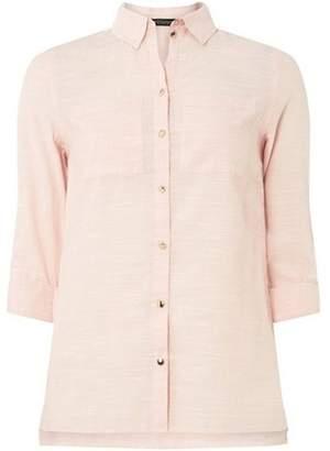 Dorothy Perkins Womens Pink Gold Button Shirt