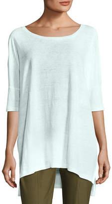 Eileen Fisher Organic Linen Jersey Boxy Tunic