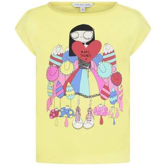 Little Marc Jacobs Little Marc JacobsYellow Miss Marc Print Top