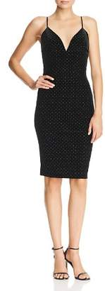 Amanda Uprichard Austria Studded Velvet Slip Dress