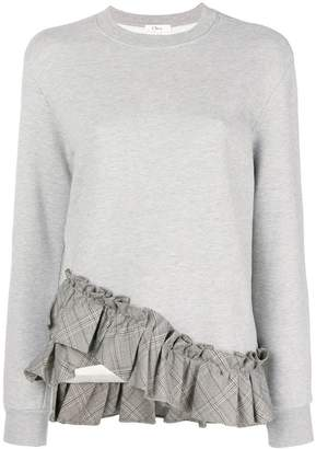 Clu (クルー) - Clu ruffled hem sweatshirt