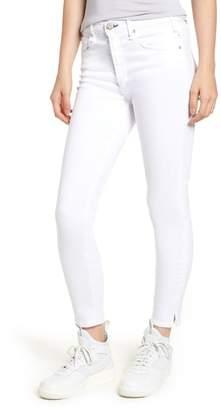 McGuire Split Hem High Waist Ankle Skinny Jeans (White Lie)