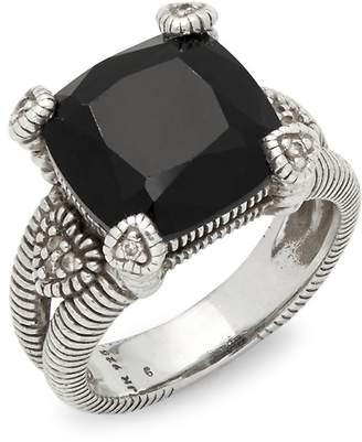 Judith Ripka Women's Olivia Cushion-Cut Sterling Silver Ring