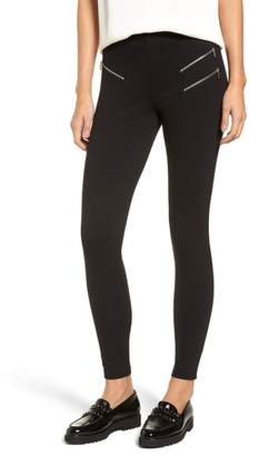 Nordstrom Zipper Ponte Skimmer Leggings