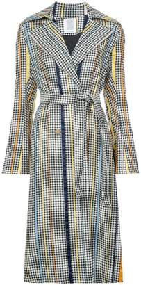 Rosie Assoulin pied de poule belted trench coat