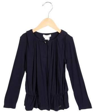 Chloé Girls' Draped Long Sleeve Top w/ Tags